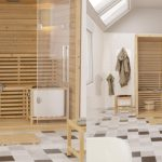 sauna individuel dans une salle de bain