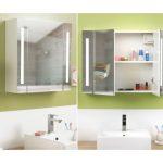 une armoire miroir avec 2 portes